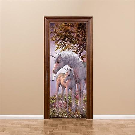 Gwell Door Stickers Murals Wallpaper Interior Door Decals Diy 3d
