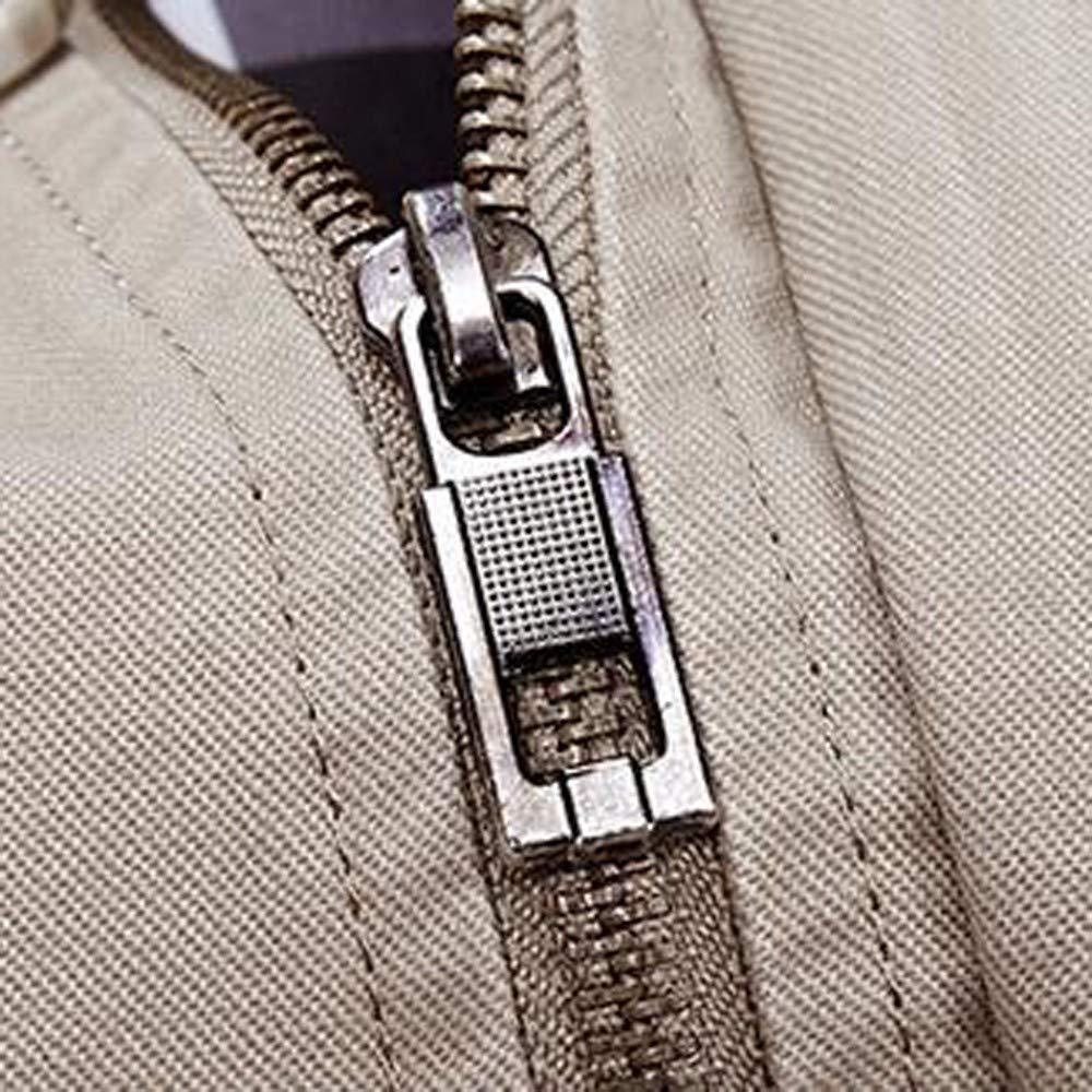 Allywit Men Winter Warm Jacket Overcoat Outwear Slim Long Trench Zipper Buttons Coat Plus Size
