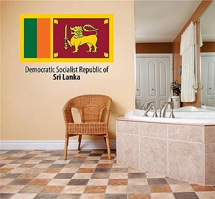 Decals Stickers Democratic Socialist Republic Of Sri Lanka Flag