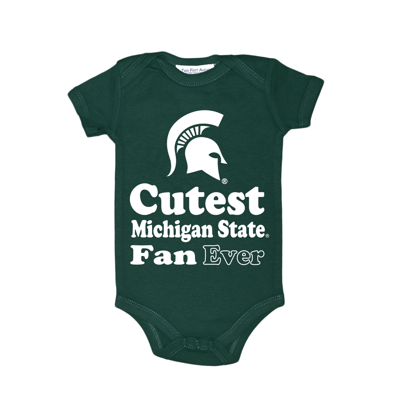 NCAA Michigan State Spartans子供ユニセックスラップショルダークリーパー、12ヶ月、グリーン   B01MYZGGJT