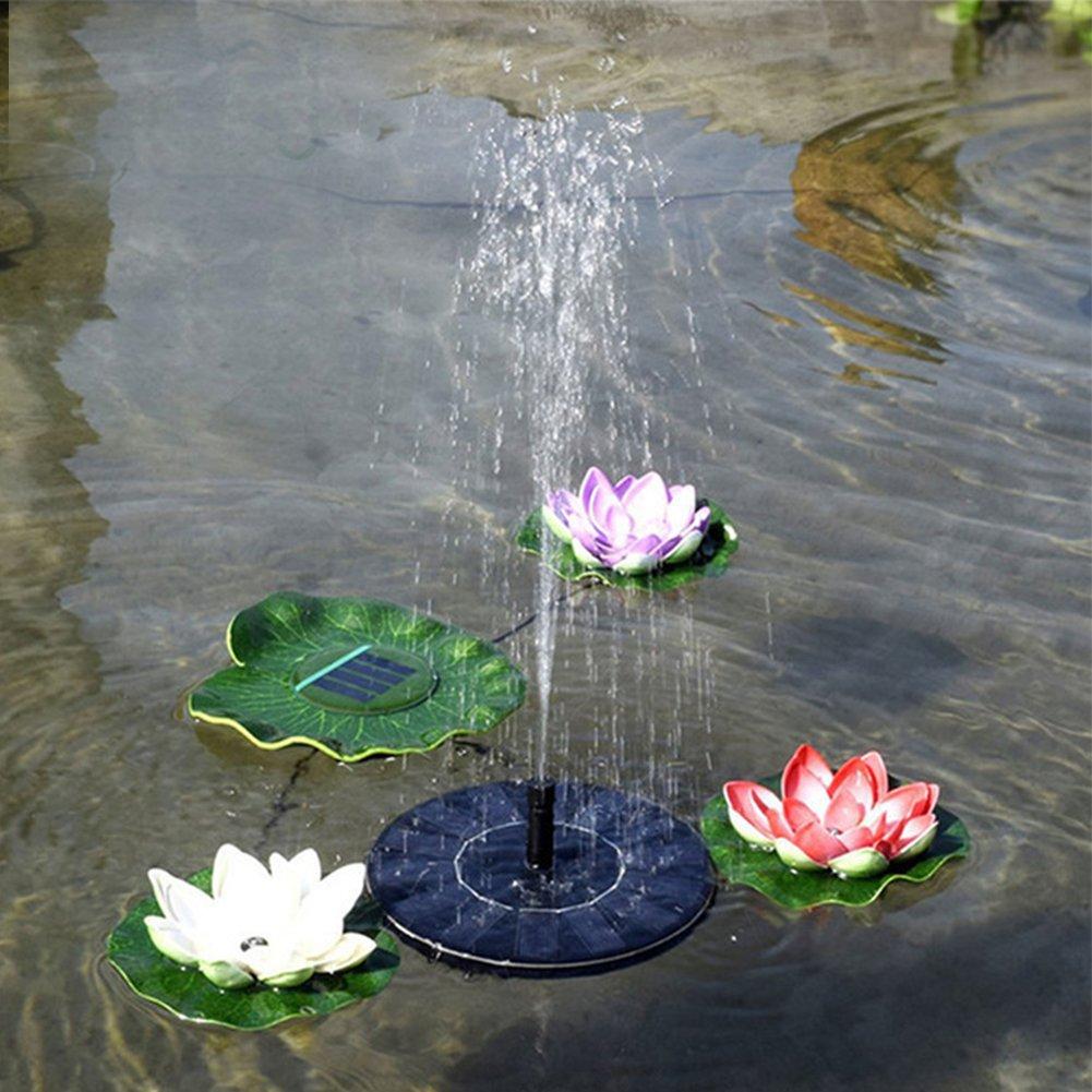 Solar Birdbath Fountain Pump Solar Bird Bath Fountain Pump - Outdoor Watering BirdBath Submersible Pump for Garden and Patio - 1.4W Solar Powered Floating Fountain Kit by zqasales (Image #7)