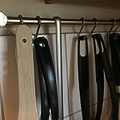 fackelmann relingleisten k chenleiste hakenleiste inkl 3 haken aus edelstahl farbe silber. Black Bedroom Furniture Sets. Home Design Ideas