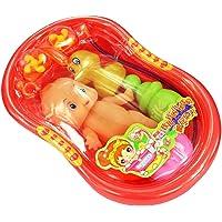 Juguete Casa de Muñeca en Miniatura Bañera Baño