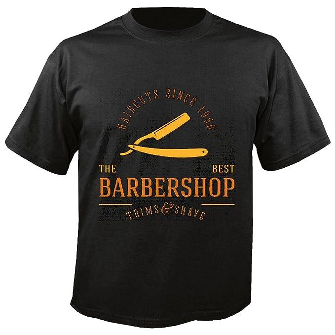 T-Shirt Camiseta Remera EL Mejor CAMPEÓN barbería Peluquero Peluquero Peluquero Maestro barbero PELUQUERÍA PELUQUERÍA in Negro: Amazon.es: Ropa y accesorios