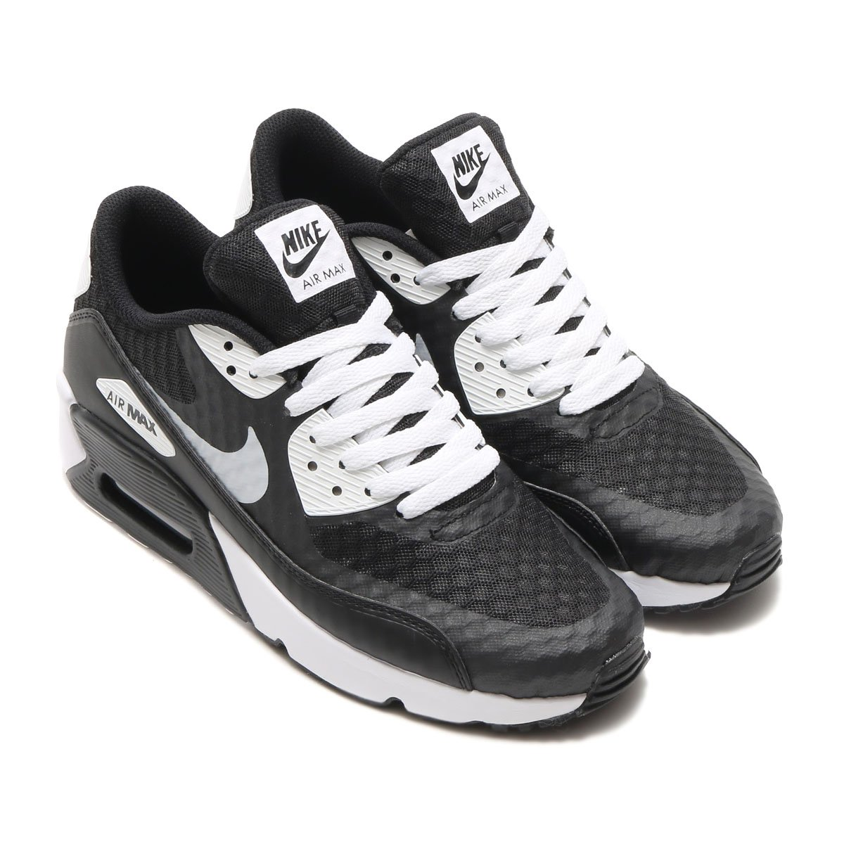 Nike Big Kids Air Max 90 Ultra 2.0 BR GS 881925-001 BLACK/WHITE Size 4Y