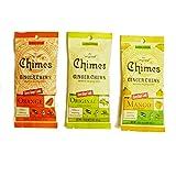 Chimes' Ginger Chews - Variety 3 Pack - Original, Mango, and Orange