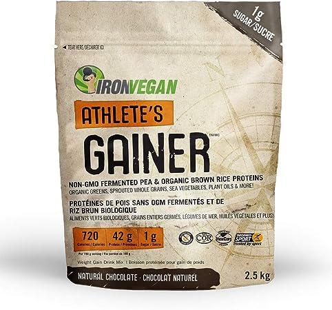 IRON VEGAN Gainer Chocolate Protein Powder, 2500 GR