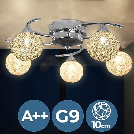 Jago - Lámpara A++ hasta E de techo esférica con 5 portalámparas