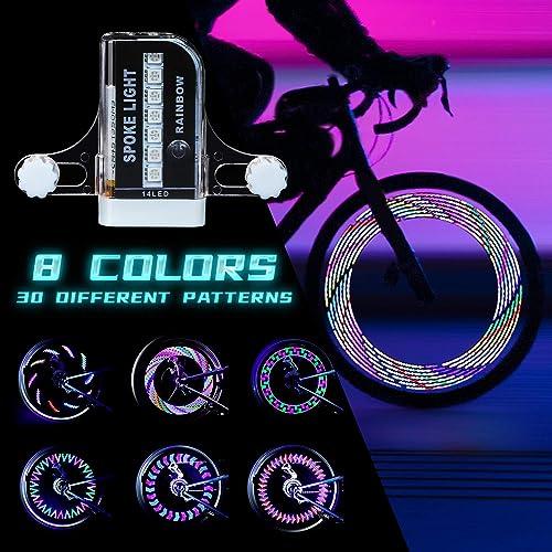PRUNUS Rechargeable LED Bike Wheel Lights Waterproof Bicycle Spoke Lights