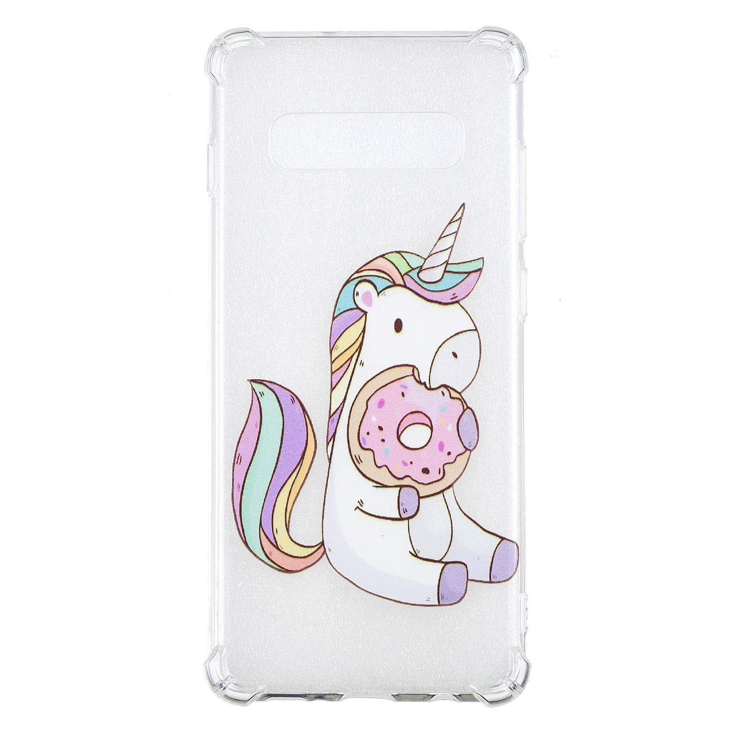 Galaxy S10+ Case, for [S10+], MerKuyom Lightweight [Clear Crystal Transparent] Slim-Fit Flexible Gel Soft TPU Case Cover for Samsung Galaxy S10+ / S10 Plus, W/Stylus (Cute Biscuit Horse)