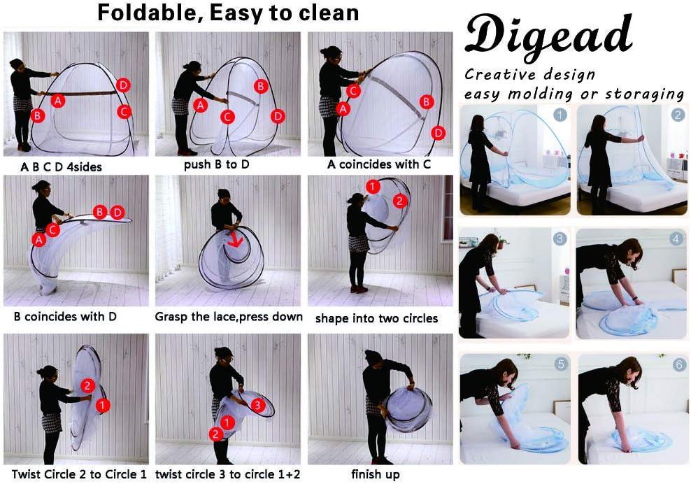 Digead Plegable Mosquitera 1.8M Marr/ón Puerta doble Port/átil Mosquito Cortina Mosquitera Cama Viaje//Hogar//Beb/és Mosquito Cortina