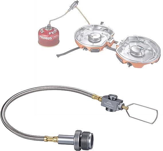 Camping LPG Gas Adapter Hose Butane Convert Valve Canister Stove GA-1412