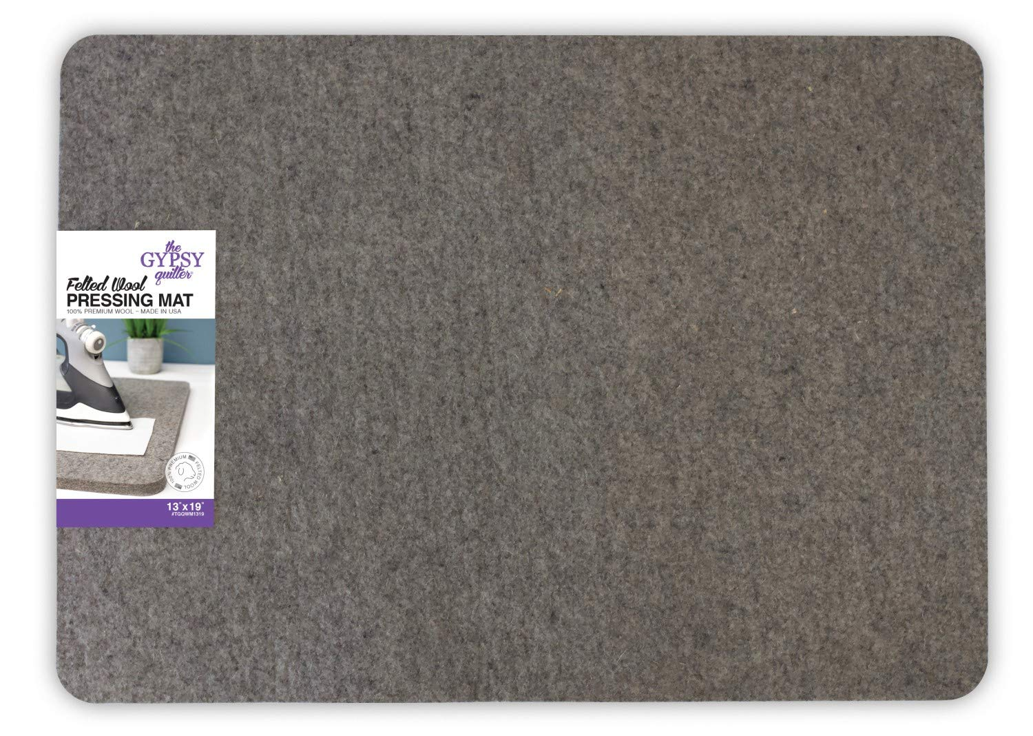 Wool Pressing Mat 14-1/3in Wide x 18-7/8in Long x 1/2in Thick from The Gypsy Quilter by Gypsy Quilter