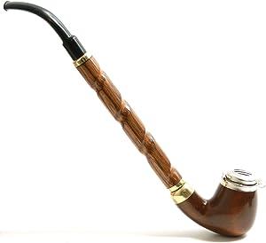 Mr. Brog Churchwarden Tobacco Pipe - Model No: 13 Dezerter Walnut - Pear Wood Roots - Hand Made