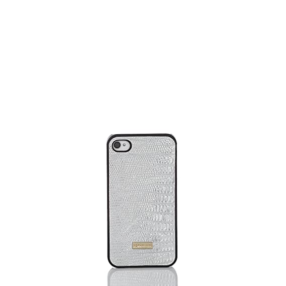 new concept d09f0 95b7c Amazon.com: Brahmin iPhone 4 Case Fashion Lizard (Silver): Cell ...