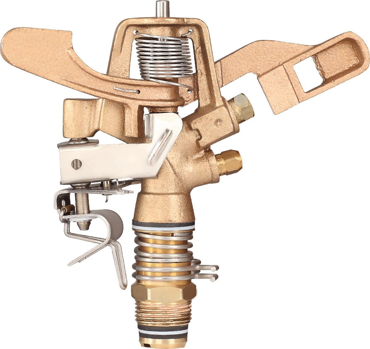 """IrrigationKing RK-35 3/4"""" Part Circle Brass Impact Sprinkler with Nozzles - 11/64"""" x 1/8"""", NPT Male, 12.6 GSM Maximum Flow Rate"""