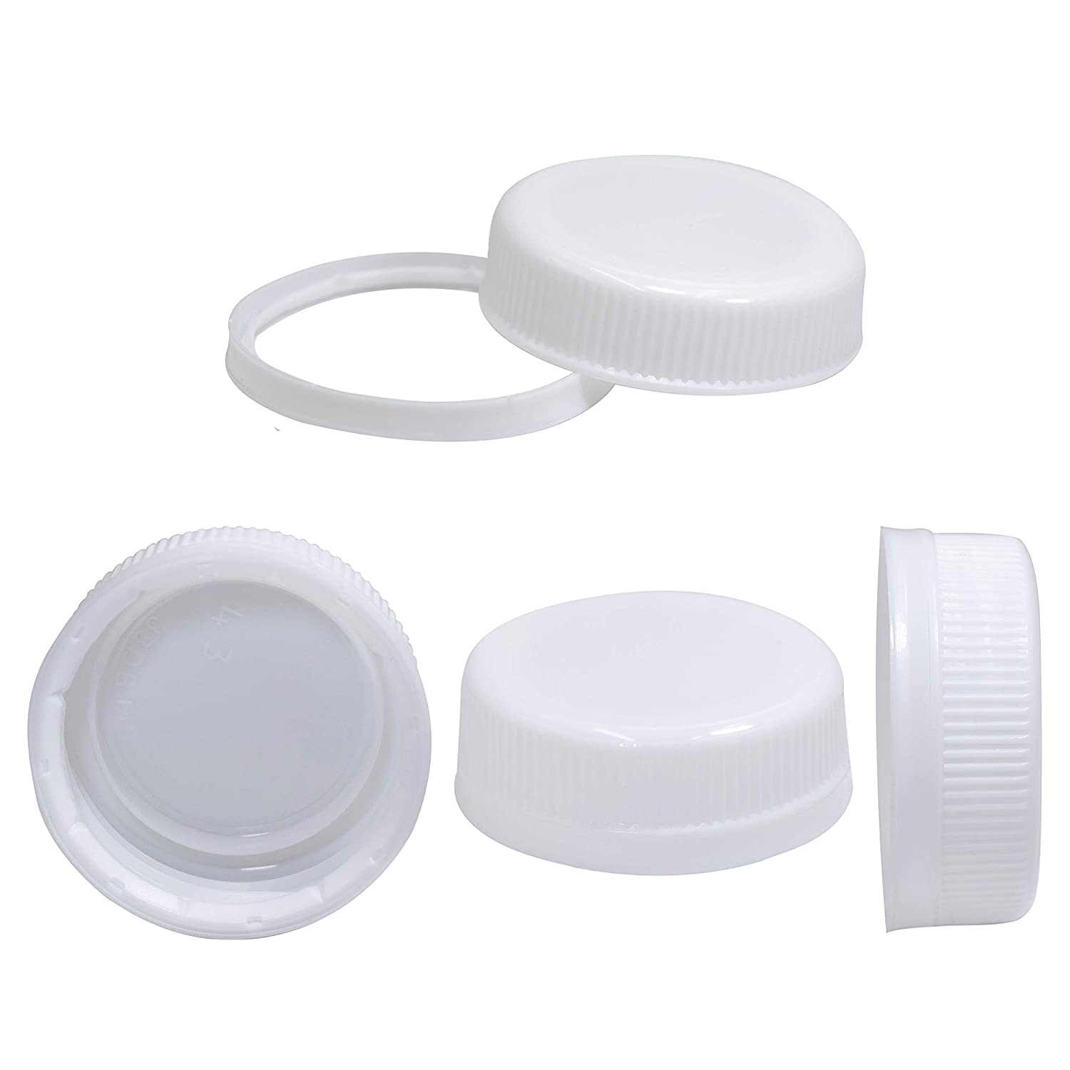 12 Plastic 1 oz Containers One Ounce With Snap On Lid White