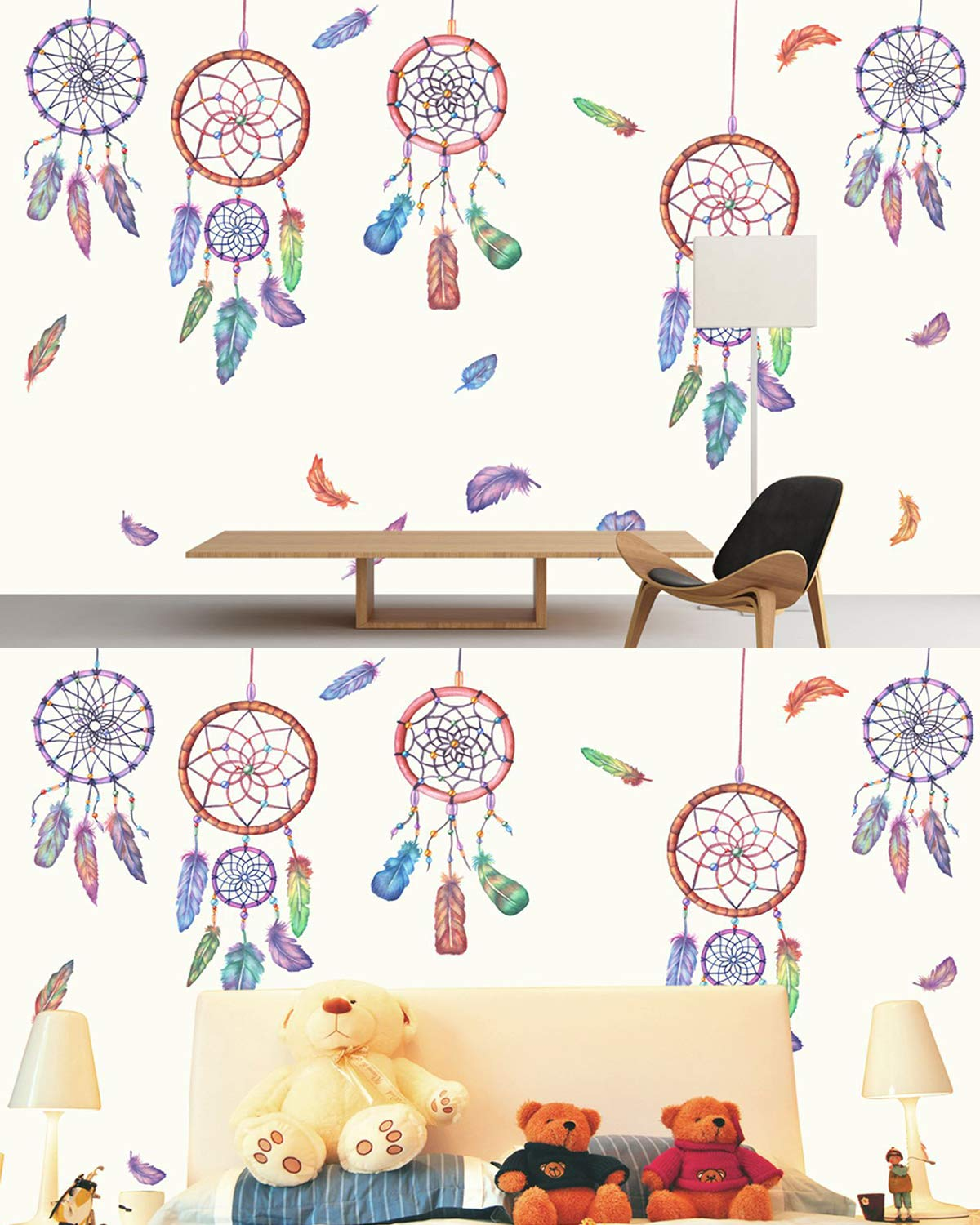 Living Room Butterfly Mural Wall Art for DIY Dorm Sunm boutique 3D Butterfly Wall Decals 94 Pcs Removable Butterfly Wall Sticker Decals Bedroom Decor