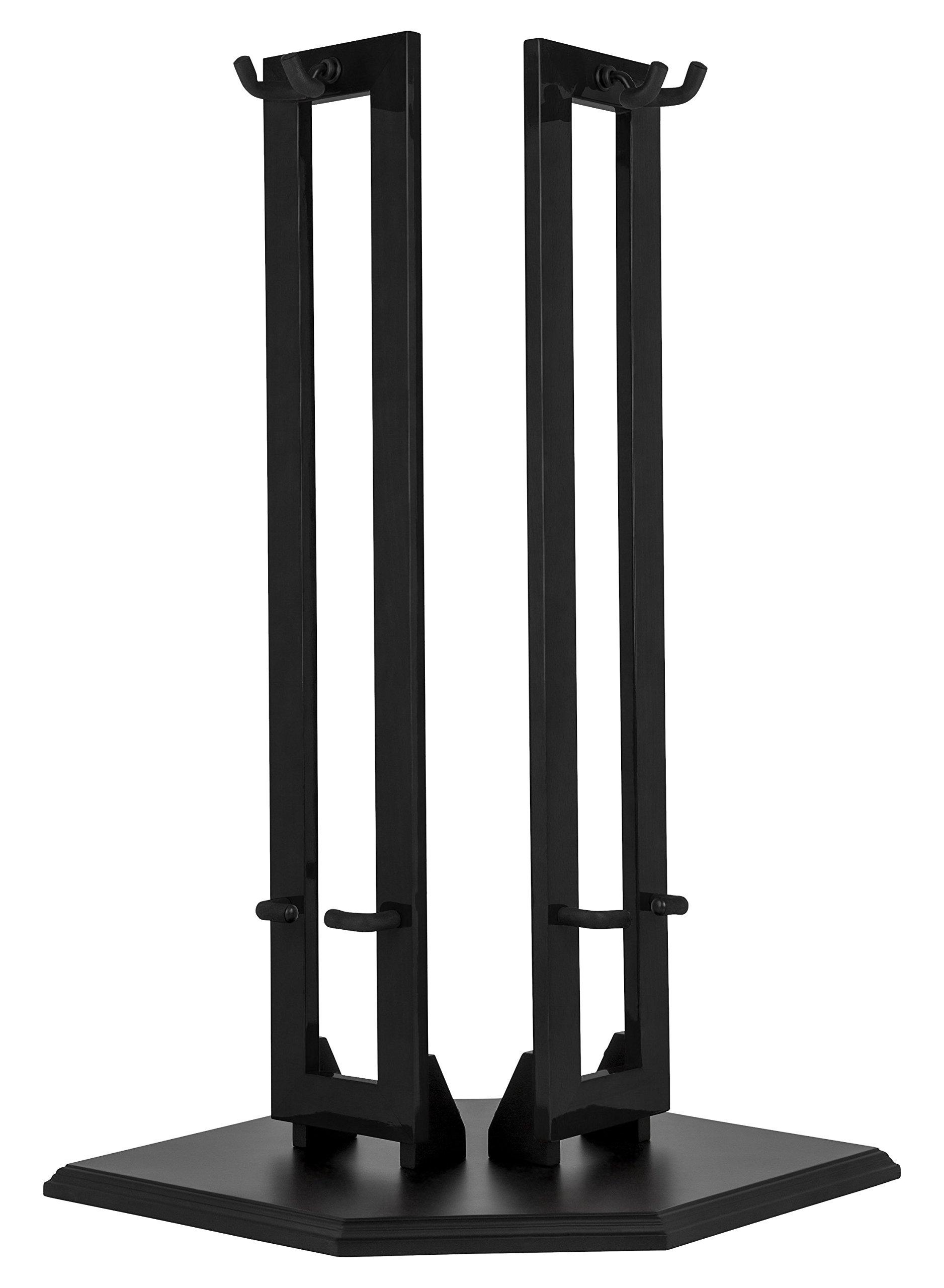Fender Fender Hanging Wood Double Guitar Stand, Black by Fender (Image #1)