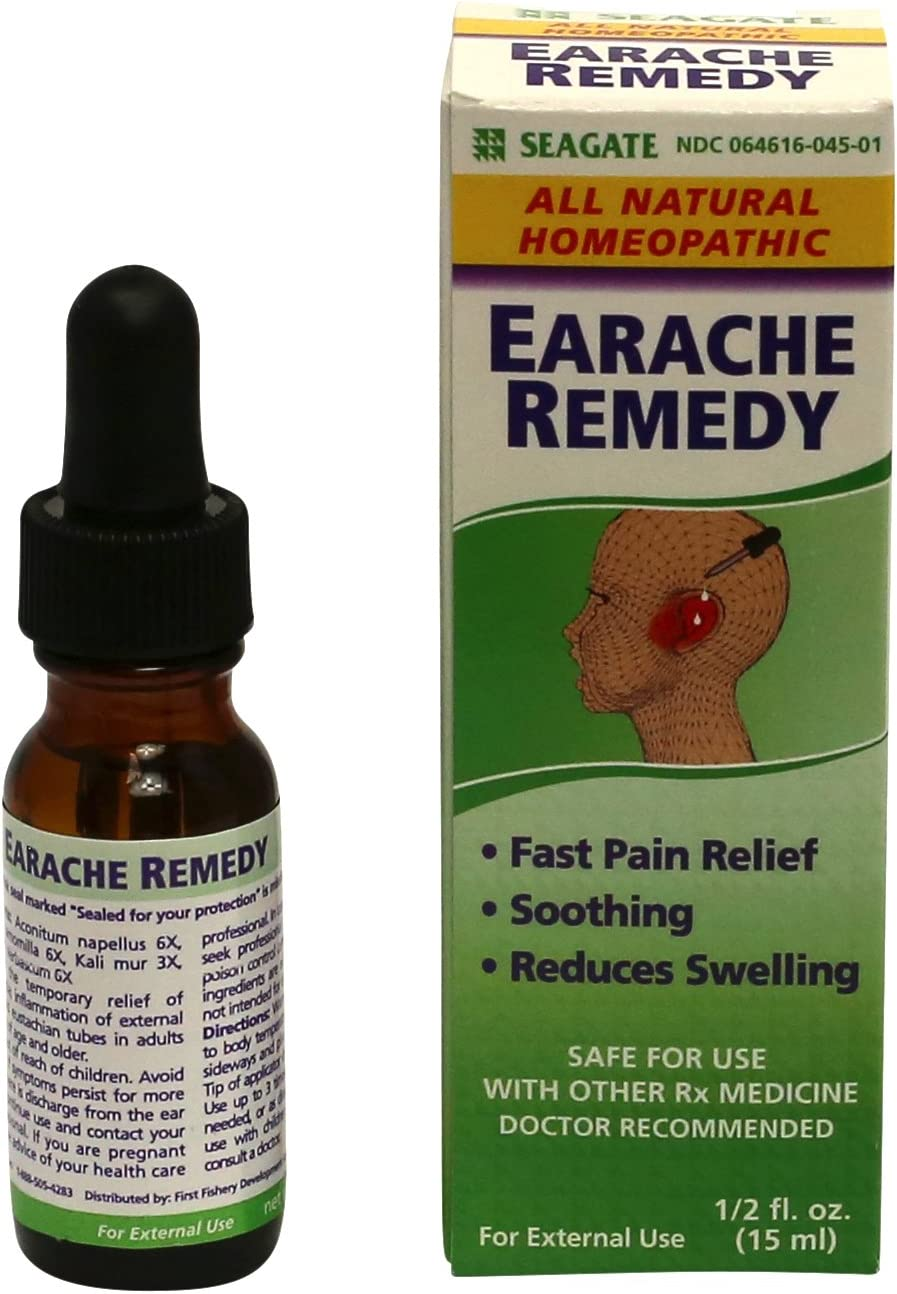 Seagate Products Homeopathic Olive Leaf Extract Earache Remedy, 0.5 Fl Oz (Pack of 1)