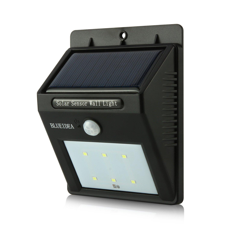 Blueidea Bright Outdoor Solar Powered Motion Sensor Wall