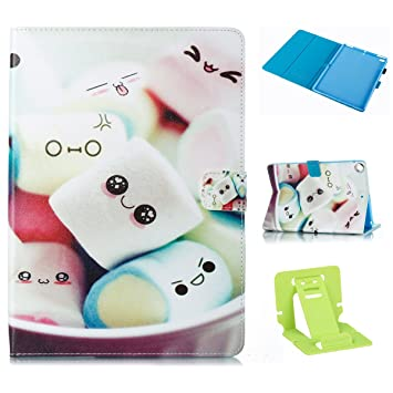 Ekakashop Ultra Delgada Colorido Torta de la Toalla Patrón Billetera Wallet Case Protective Cover Folio Pouch