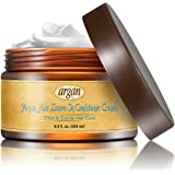 Leave In Conditioner Argan Hair Cream - Thick to Extra Coarse Ethnic Hair Moisturizer 8.5 oz - Moroccan Oil Anti Frizz Moisturizing Volume Control Rich Moisture Hydration
