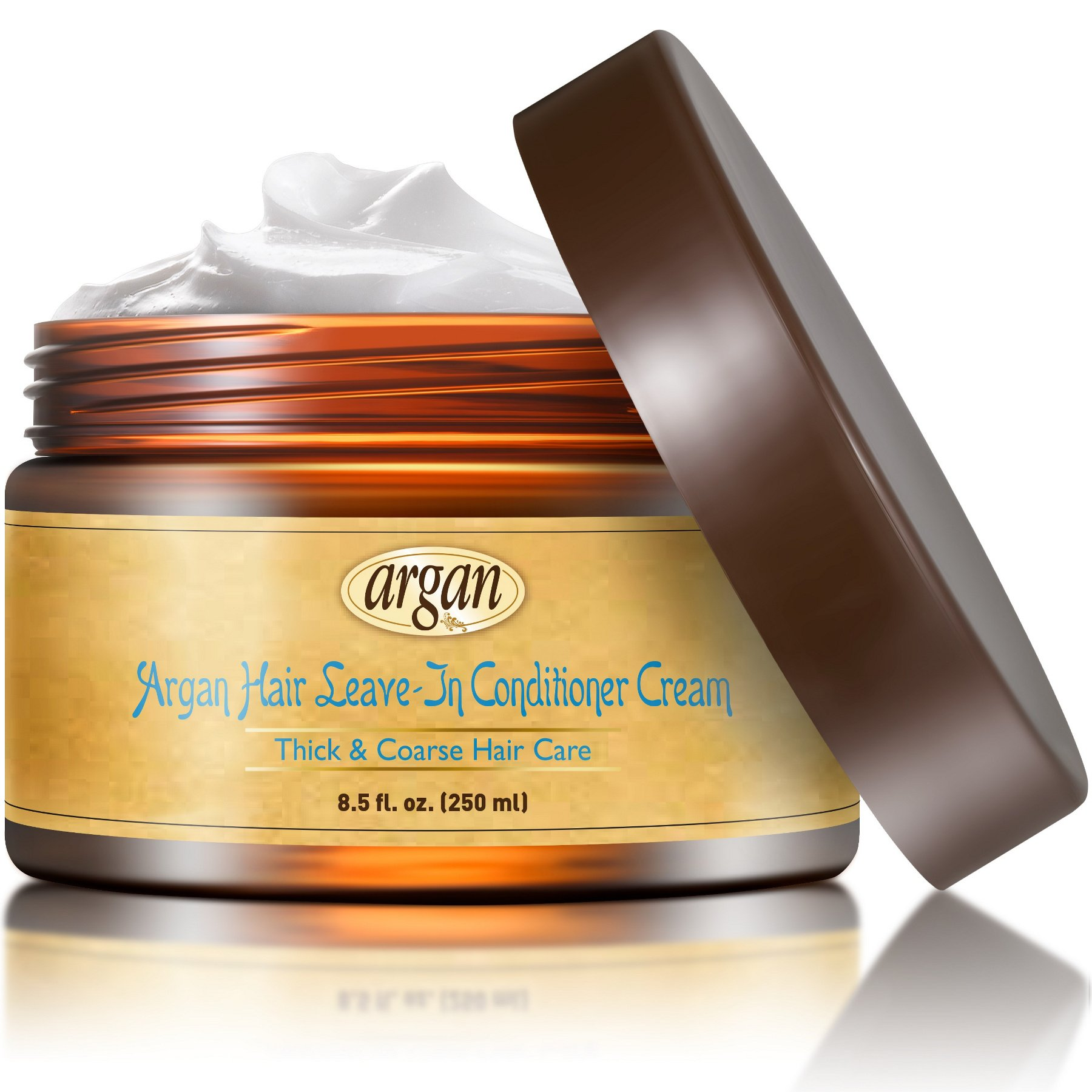 Vitamins Leave In Conditioner Cream - Coarse Thick Ethnic Hair Anti Frizz Styling Product with Nourishing Moroccan Argan Oil