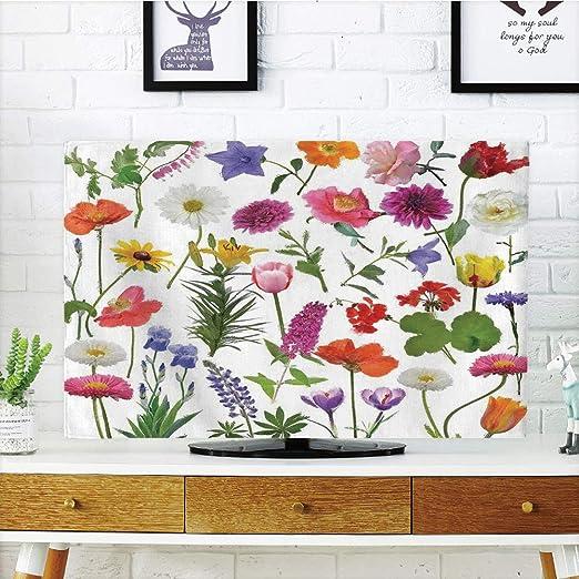 Cubierta para televisor LCD, decoración de flores, orquídeas ...
