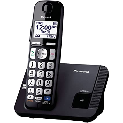 acf90e2e1 Image Unavailable. Image not available for. Color  Panasonic Amplified Cordless  Phone KX-TGE210B DECT 6.0 with Enhanced Noise Reduction - 1 Handset
