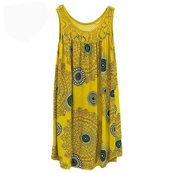 AIni Vestido Estampado De Encaje Ropa De Mujer De Gran TamañO Falda ...
