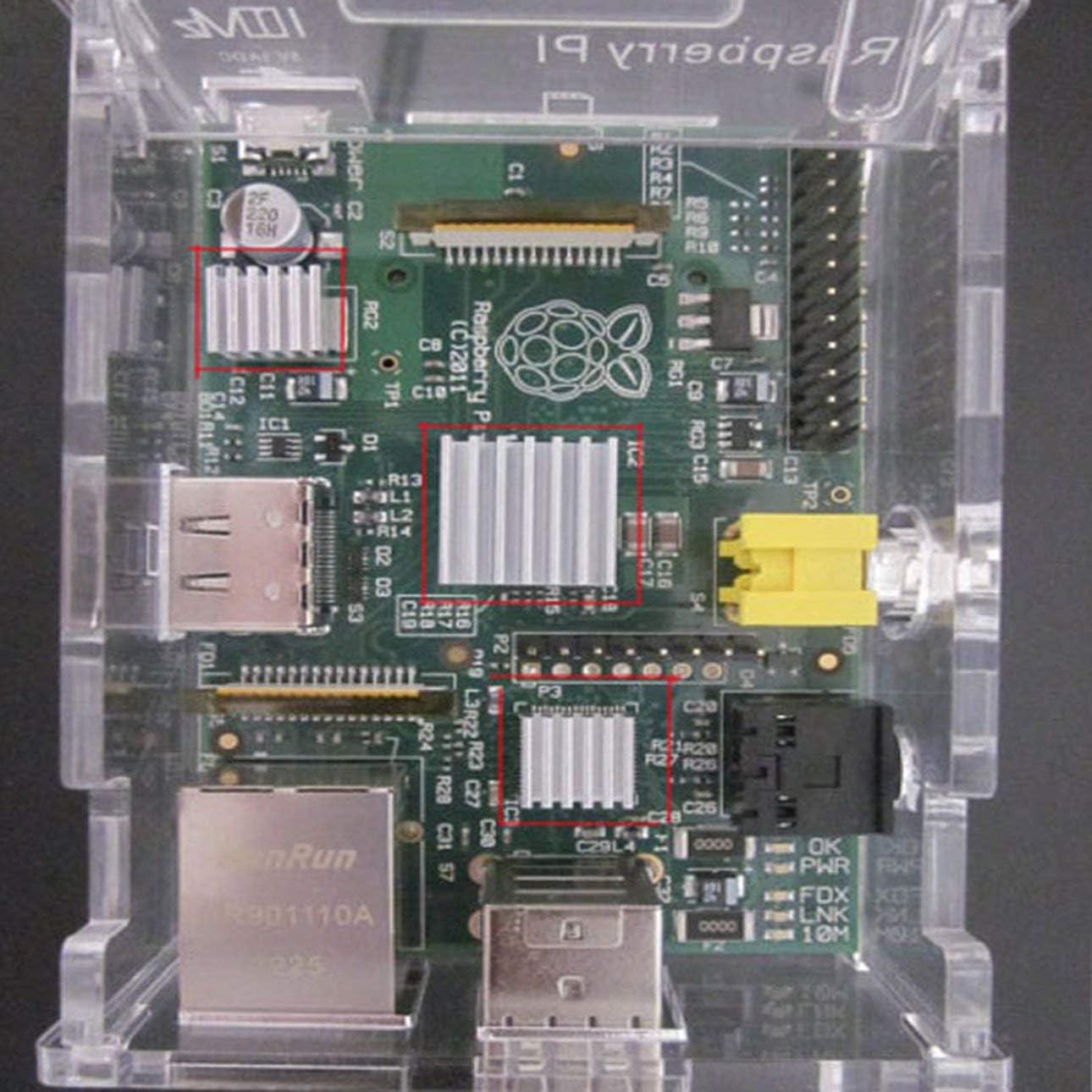 Liobaba Raspberry Pie Heat Sink Pure Aluminum 3 Pieces Raspberry Pi 2B 3 Generation B Special Belt 3m Vinyl Back