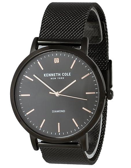 Kenneth Cole New York Diamond Men's Analog Watch Black Steel Mesh Bracelet  KCC0120006