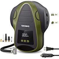 $52 » TEROMAS Tire Inflator Air Compressor, Portable DC/AC Air Pump for Car Tires 12V DC and Other…