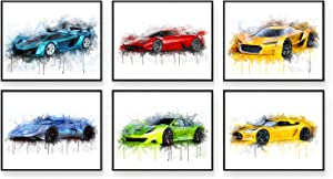 Car Poster - Car Wall Art - Set of 6 (10x8