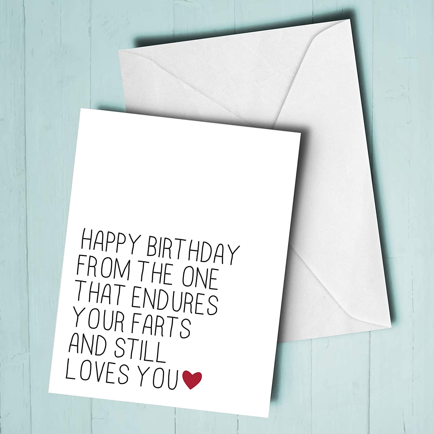 Funny Husband Card Birthday Card for Husband Love You More Than Your Farts Funny Birthday Card for Husband