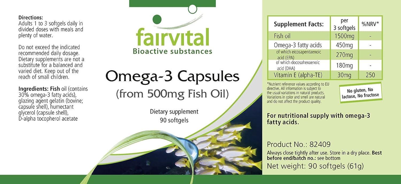 Omega-3 cápsulas - Cápsulas de Aceite de Pescado 500mg ...