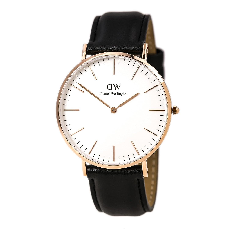 d8cb45350 Daniel Wellington Men's Quartz Watch Classic Sheffield with Black Leather  Strap 0107DW: Daniel Wellington: Amazon.co.uk: Watches