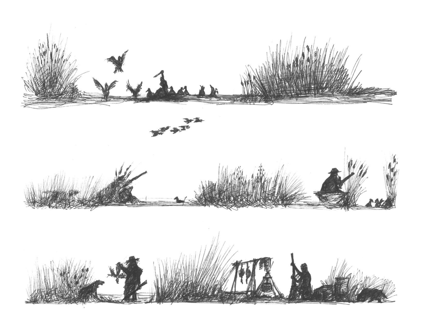 Duck Hunting Edible Icing Image Cake Border