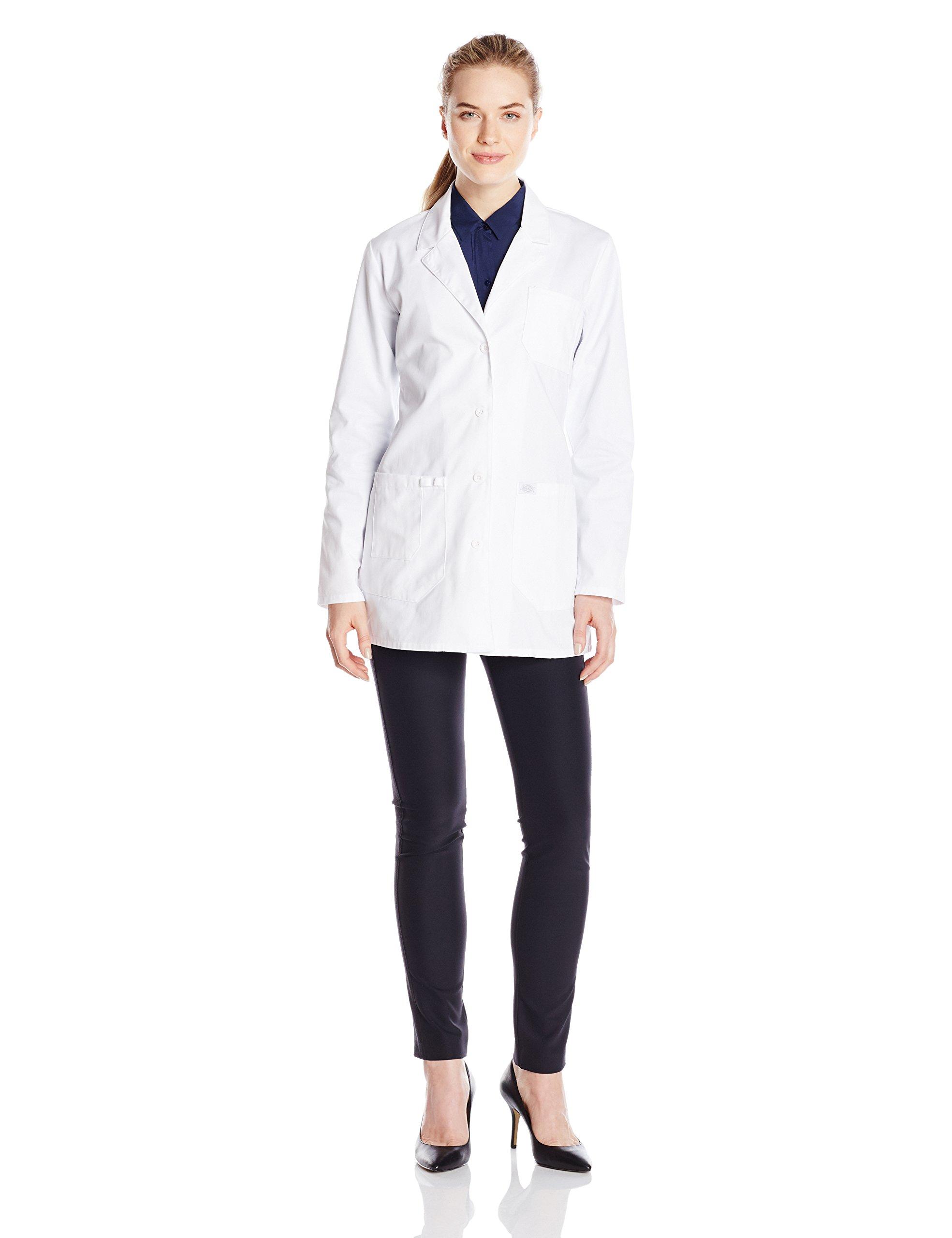 Dickies Women's 30 inch Lab Coat, White, 8