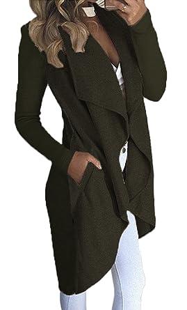 Mujer de Otoño Invierno Chaqueta de Abrigo Chaqueta de Punto Jersey de Abrigos Irregular Manga Larga Cárdigans Tops: Amazon.es: Ropa y accesorios