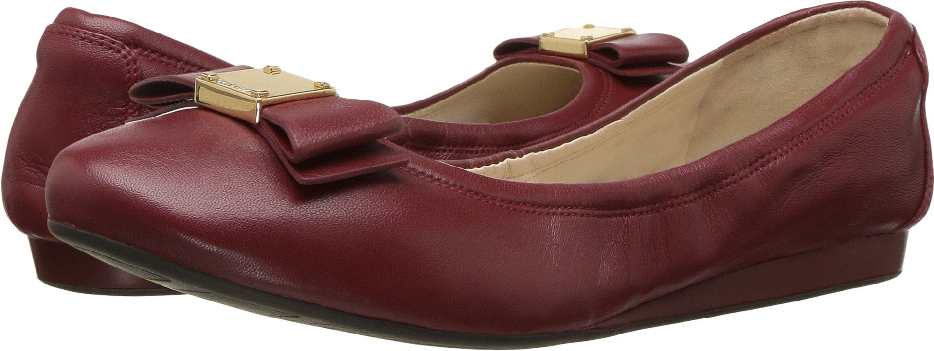 Cole Haan Women's Tali Bow Ballet Sun Dried Tomato Leather Loafer