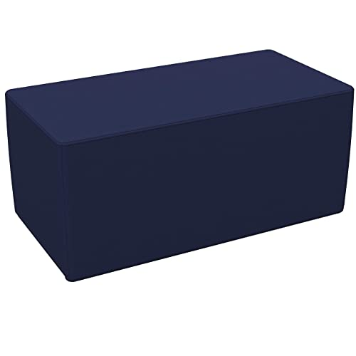 FDP SoftScape 18 x 36 Rectangle Ottoman, Collaborative Flexible Seating for Kids, Teens, Adults Furniture for Classrooms, Libraries, Offices and in-Home Learning, Standard 16 H – Navy