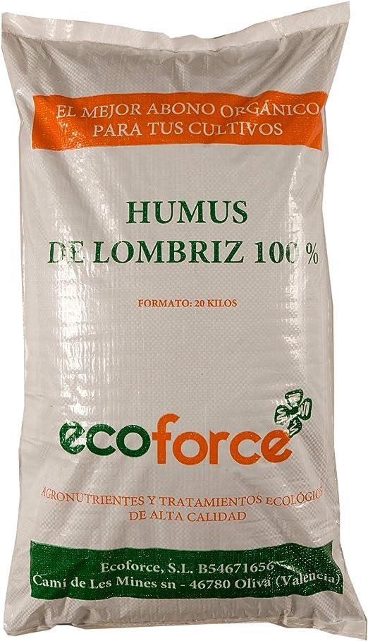 CULTIVERS Humus de Lombriz Ecológico 20 kg (40 L). Abono para plantas indicado para Césped. Fertilizante Orgánico 100% Natural. Reconstituyente del suelo: Amazon.es: Jardín