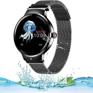 likeitwell Smartwatch Mujer Hombre, Impermeable Reloj Inteligente Monitores de Actividad Impermeable IP67 con Monitor de Sueño Pulsómetros Podómetro ...