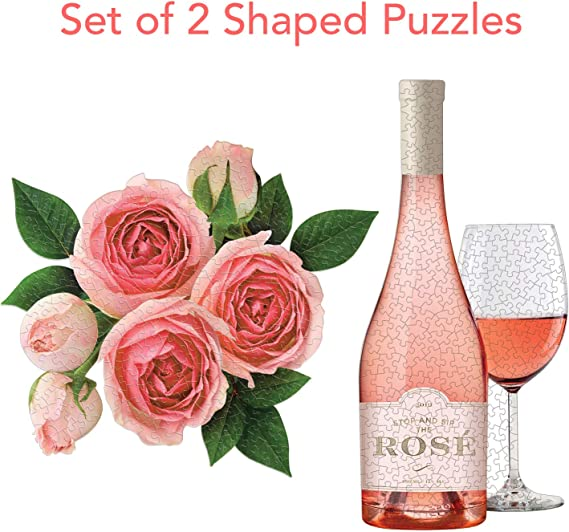 Rose All Day Set of Two Shaped Puzzle Set
