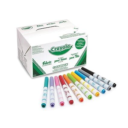 other hobbies crayola 588215 fabric marker classpack ten assorted