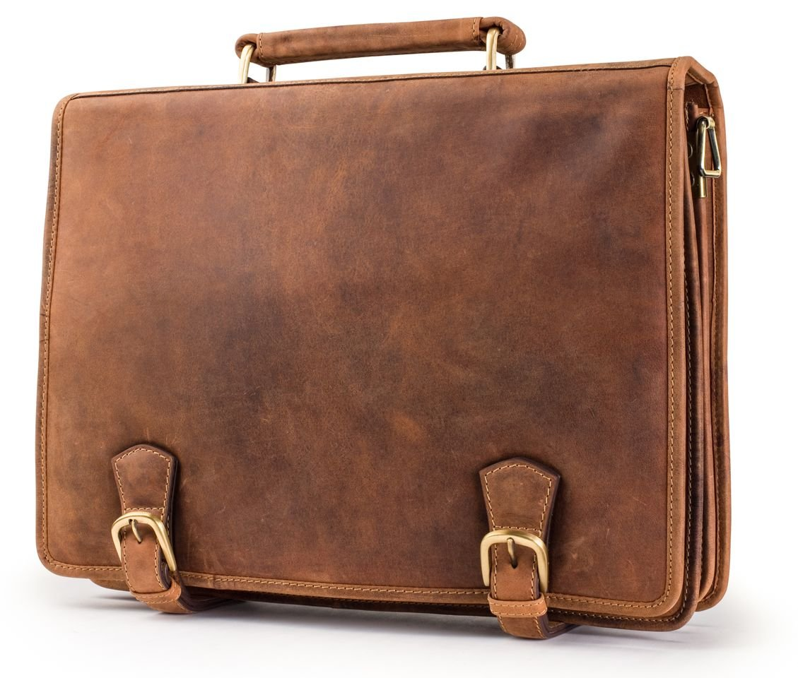 Visconti Visconti Hulk Full Flap Business Twin Compartment Briefcase, Tan, One Size Visconti Luggage 16134XL
