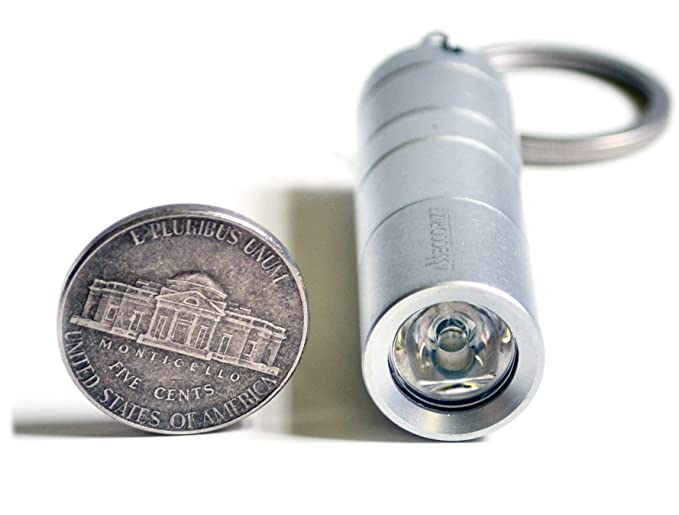 Discreet Pill Holder Keychain Stash Box Disguised as Fully Functional Mini LED Flashlight with Secret Compartment