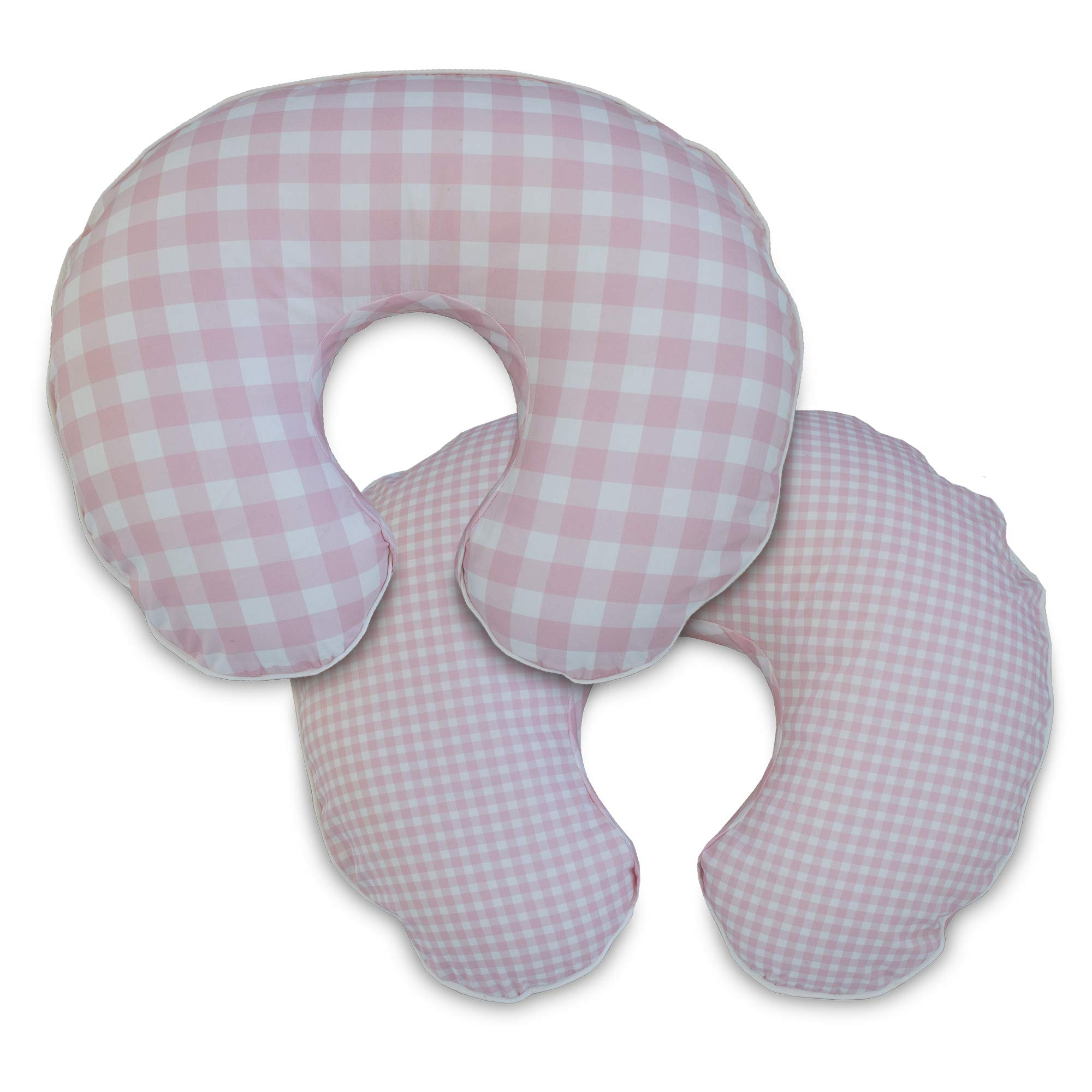 Boppy Premium Pillow Cover, Pink White Jumbo Plaid, Ultra-soft Microfiber Fabric in a fashionable two-sided design, Fits All Boppy Nursing Pillows and Positioners by Boppy